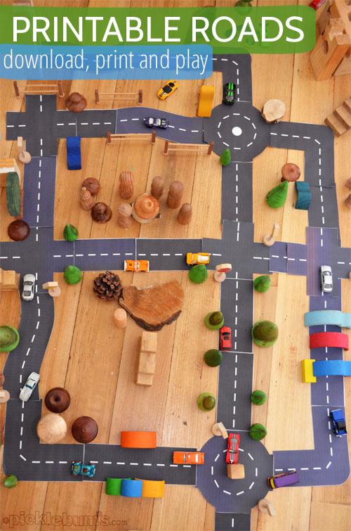 carretera imprimible para jugar
