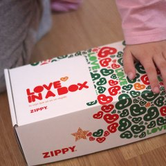 Cajas Solidarias en Zippy con Love in a Box