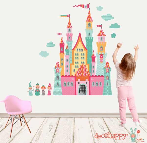 vinilo-infantil-castillo-princesas