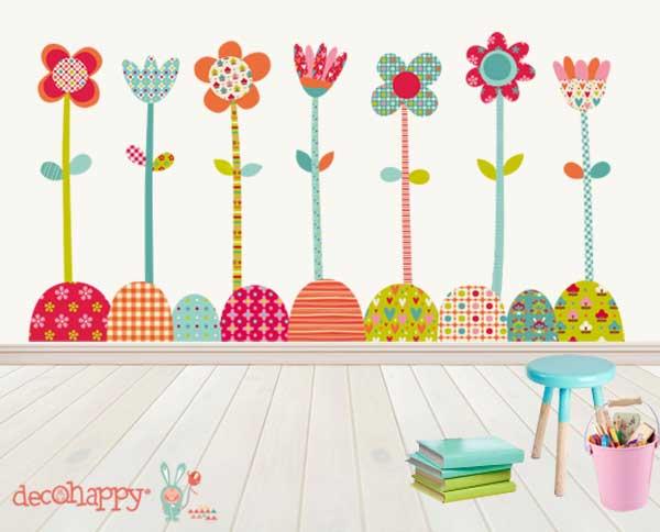 vinilo-infantil-de-tela-flores