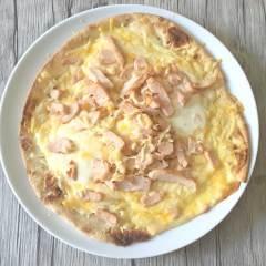 Deliciosa Pizza Piadina de Queso y Pollo