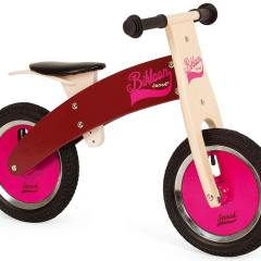 Bicicleta Sin Pedales de Madera Bikloon Rosa de Janod