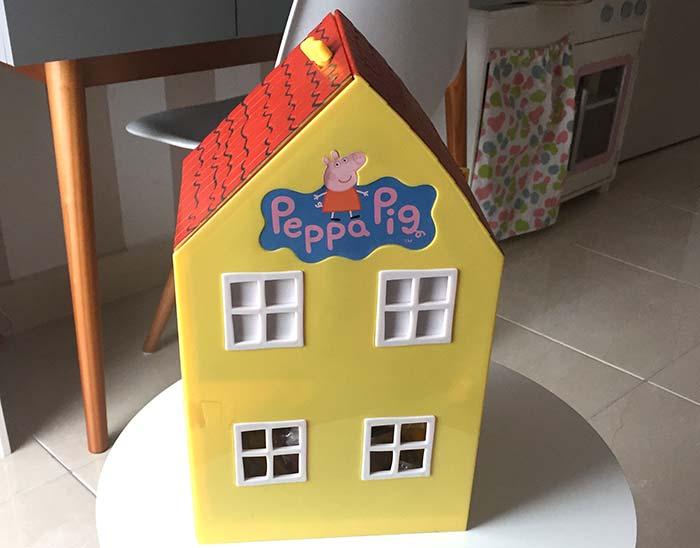 Casa Juguete La Pig Una Mamá Pintando De Diviértete Peppa Con tBQCrxhds