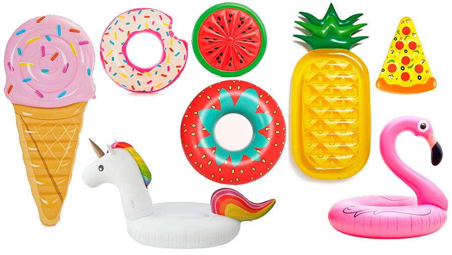 flotadores y colchonetas de piscina y playa para adultos y