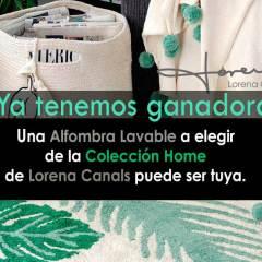 Ganador Sorteo Alfombras Lavables Colección Home y Kids de Lorena Canals