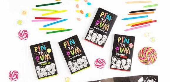 Cajas de Ceras y Dibujos para Colorear de PinTaPum