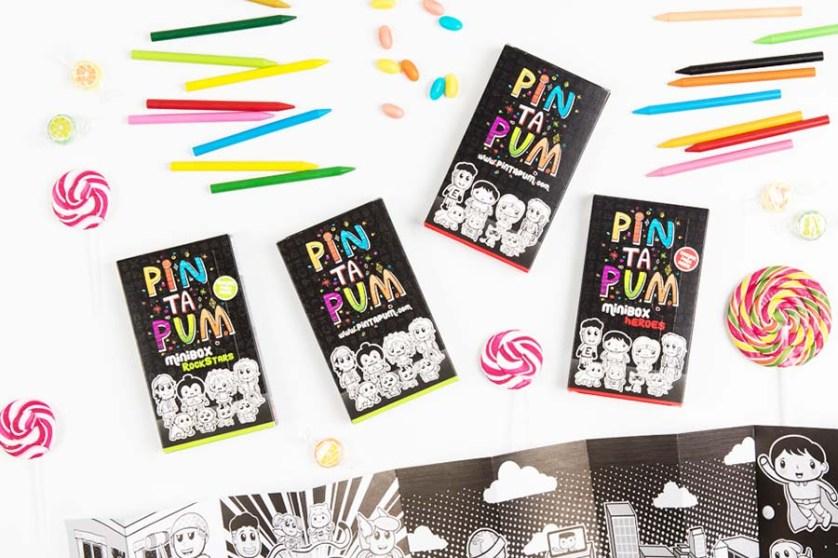 Cajas de Ceras y Dibujos para Colorear de PinTaPum | Pintando una mamá