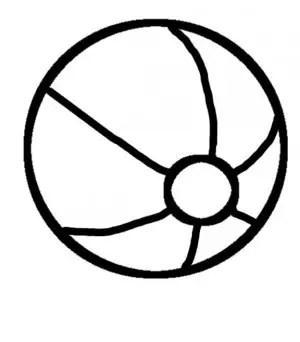 pelota para colorear pintar e imprimir