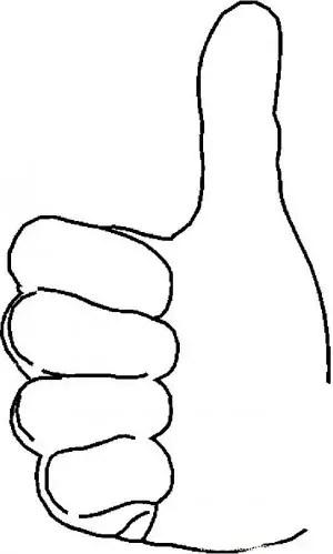 un dedo pulgar colouring pages