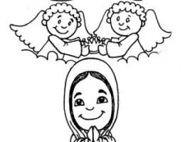 Imagenes De La Virgen Maria Para Dibujar On Log Wall