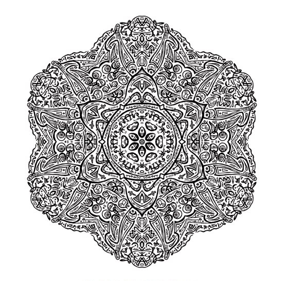 mandalas difisiles paint colouring pages page 3