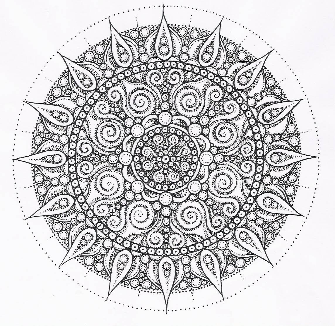 mandalas difisiles paint colouring pages 2