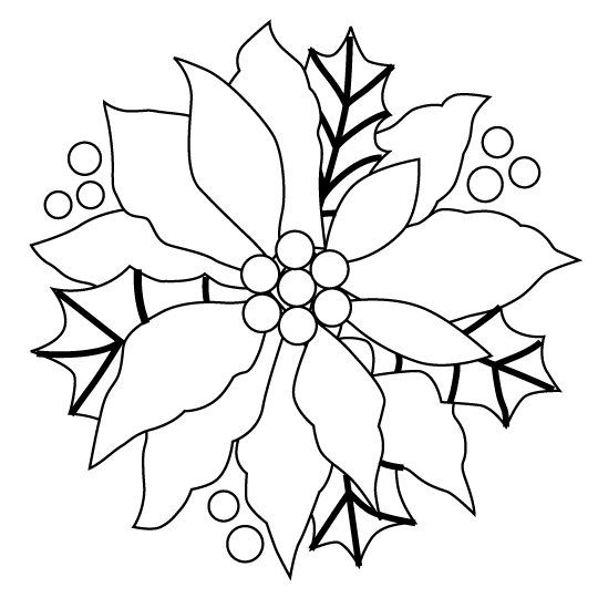 poinsettia printable christmas coloring pages