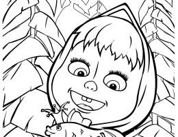 Dibujos De Masha Y El Oso Para Colorear E Imprimir On Log Wall