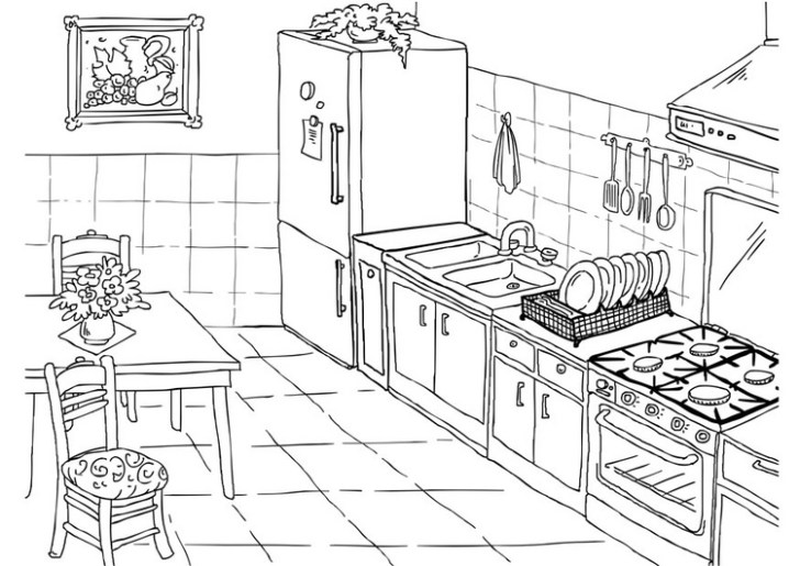 Coloring Pages Kitchen Safety