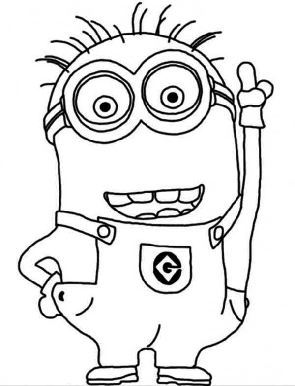 paul minion colouring page 2