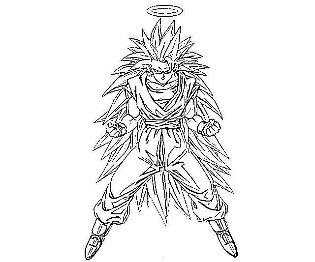 desenhos para colorir de goku