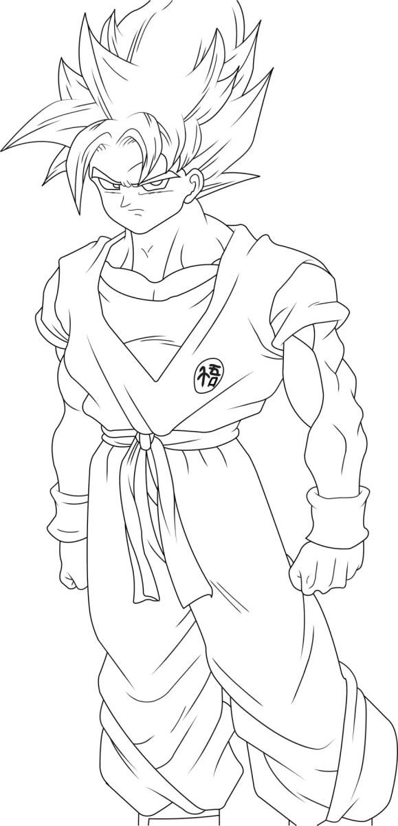 desenhos para colorir goku