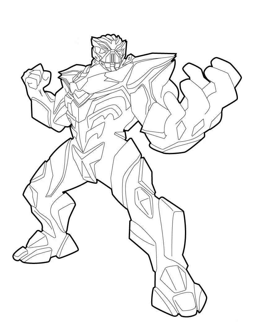 desenho max steel para colorir