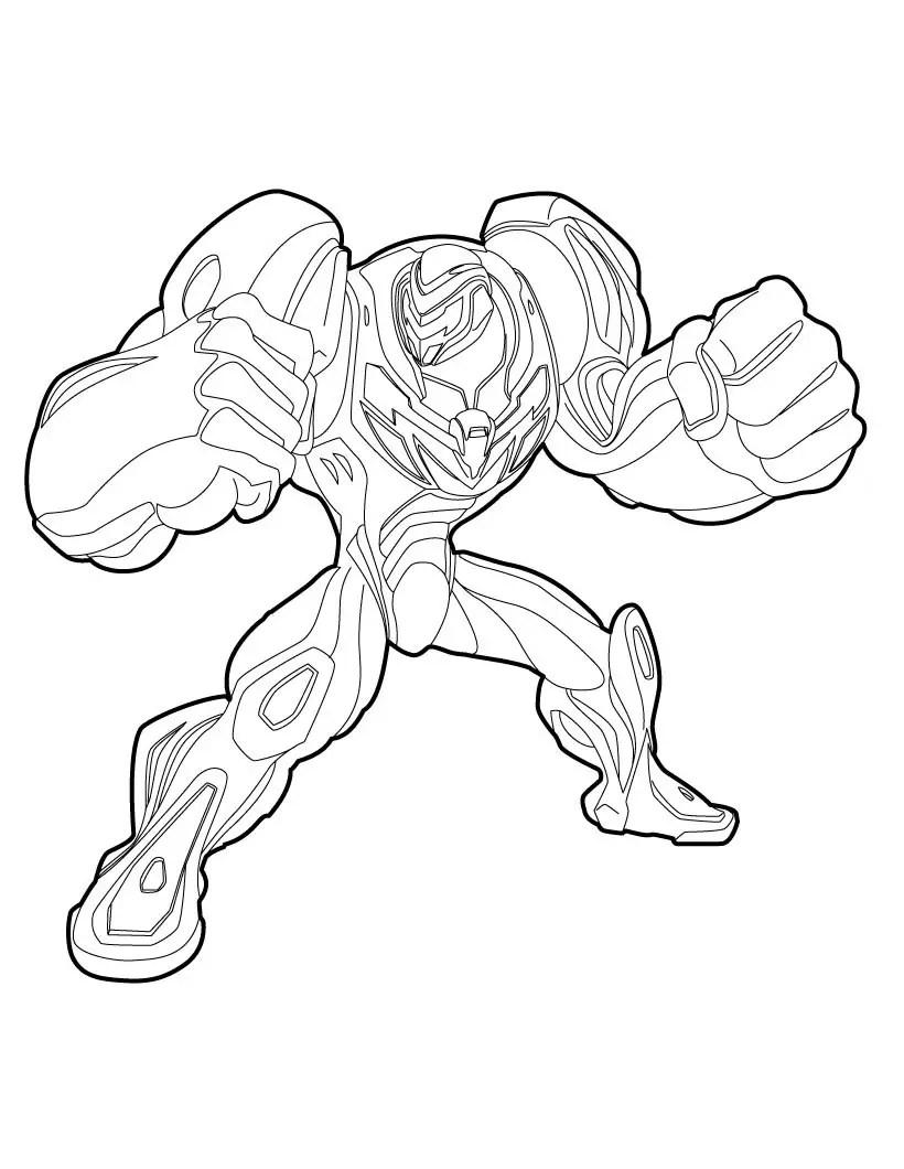 desenhos do max steel para colorir online