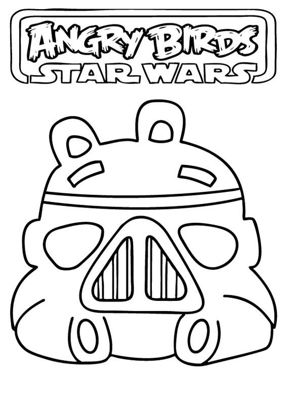 Jogo Desenhos para colorir Angry Birds Star Wars no Jogos Online Wx