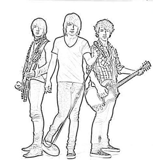 pin camp rock colouring pages on pinterest