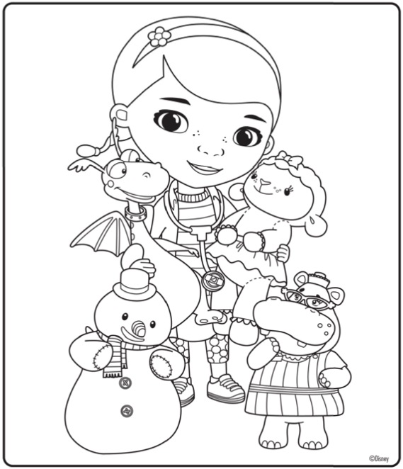 Pages Christmas Sophia First Coloring