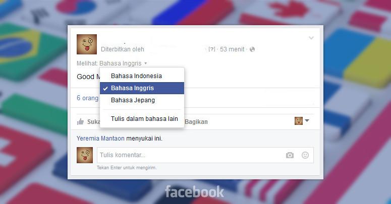 Cara Membuat Posting Di Facebook Dalam Multi Bahasa Pintar Komputer