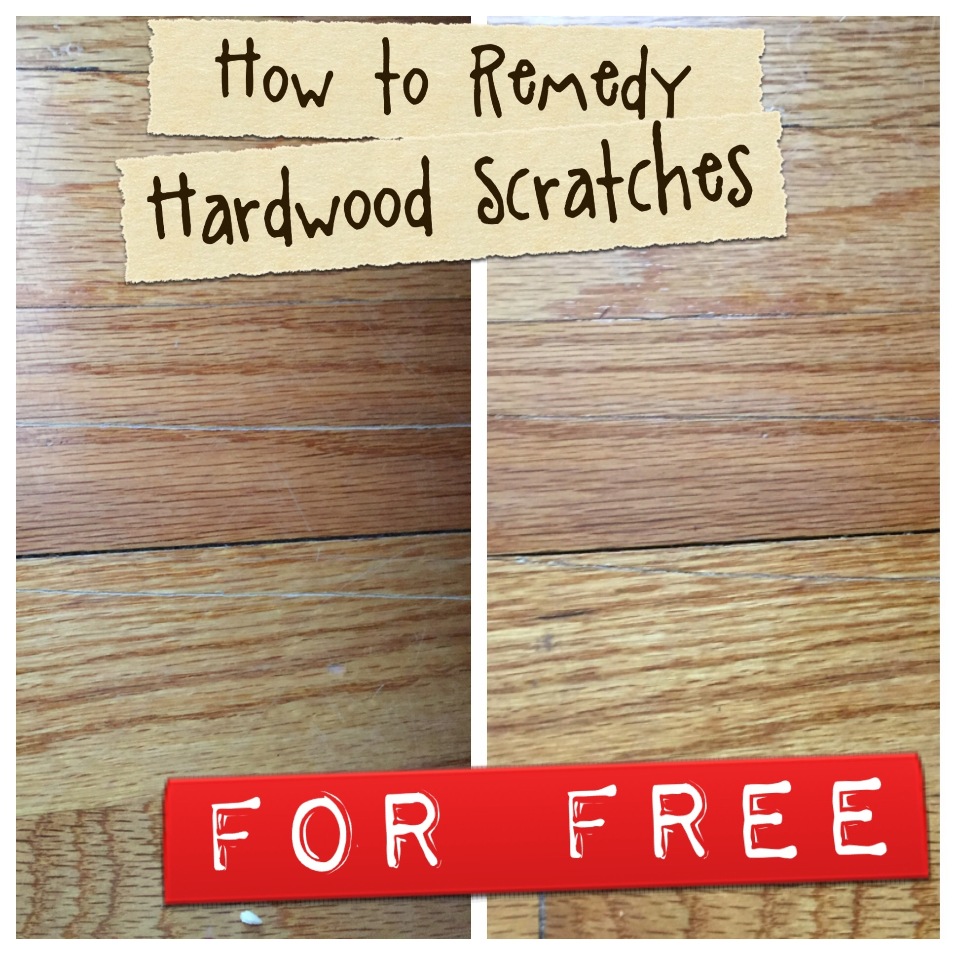 FREE Home Hack How To Mask Hardwood Floor Scratches