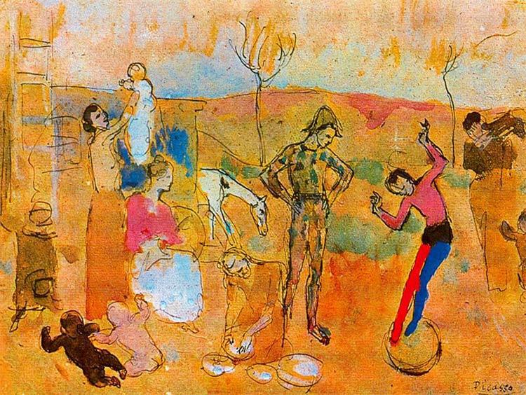 Bohemios de circo, Picasso