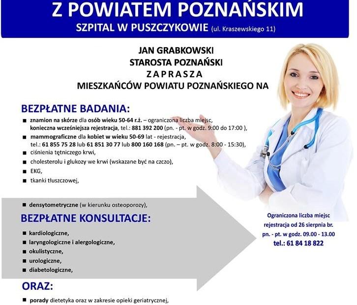 Plakat promujący Białą Sobotę z powiatem poznańskim z podaniem miejsca i godziny wydarzenia