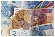 Na zdjęciu pieniądze - banknoty i monety