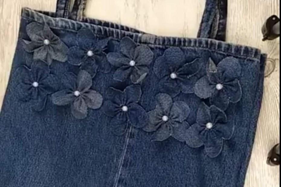 Zdjęcie, torba z jeansu