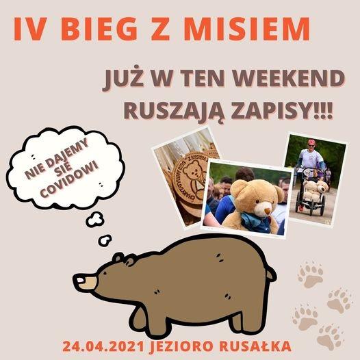 Plakat promujący IV edycję Biegu z Misiem