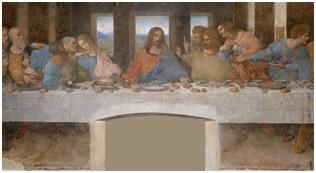"""Obraz """"Ostatnia Wieczerza"""" autorstwa Leonarda da Vinci"""