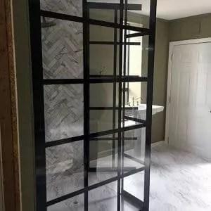Gridded Shower Glass Digital Print
