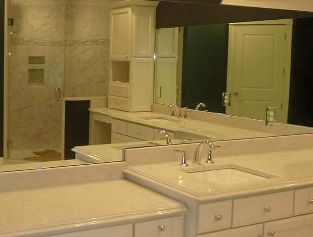 mirror install bathroom