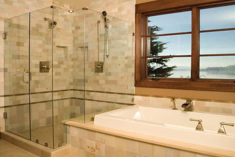 full glass shower doors