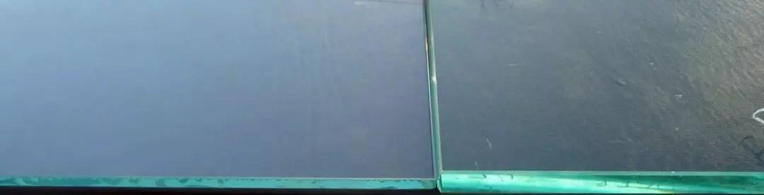 Glass thickness comparison