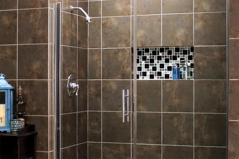 Uptown Grand Cardinal shower enclosure semi-frameless