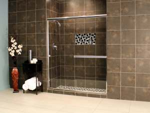 Shower Enclosures - Euro Series - LESE Chrome Clear 01