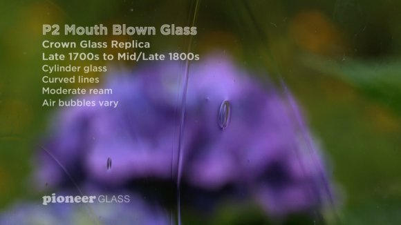 P2 Restoration Mouth-blown Wavy Glass For Historic Windows and Furniture Late 1700s to Mid 1800s, Crown Glass Replica of 1800s Homes