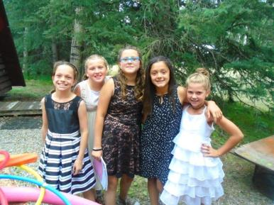 Alberta Camp Cherith Girls Posing in Pretty Dresses