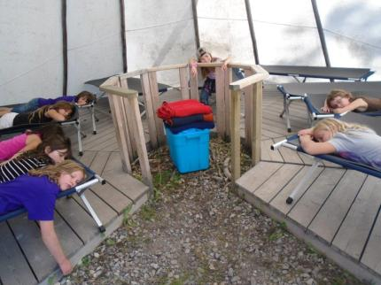 Pic Alberta Camp Cherith Girls Sleeping on Cots