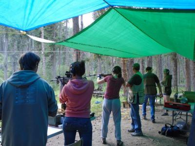 Alberta Camp Cherith Older Girls at Shooting Range