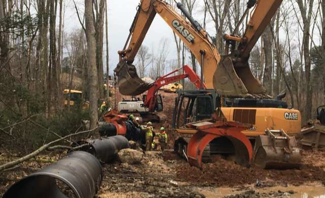 Water Pipeline Construction installed by Pioneer Construction Company Inc. in Elysburg, PA