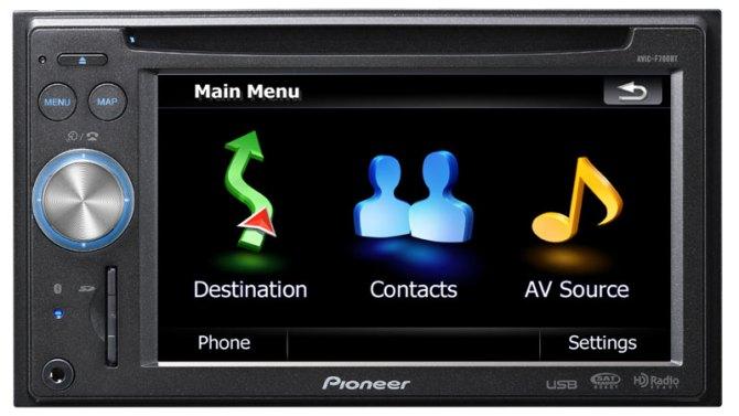 avicf700bt  indash navigation av receiver with cd player