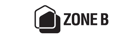 logotipo de saída da zona b