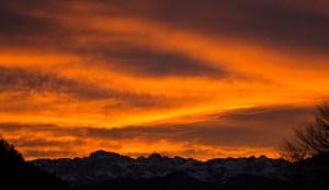 Sonnenuntergang Brenta
