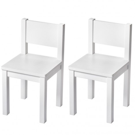 chaise enfant blanc bois massif solide deco design montessori